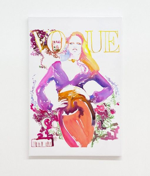 Vogue Cover Paris Canvas Wall Print- designed by Catherine Parr sold by Home @ Abode