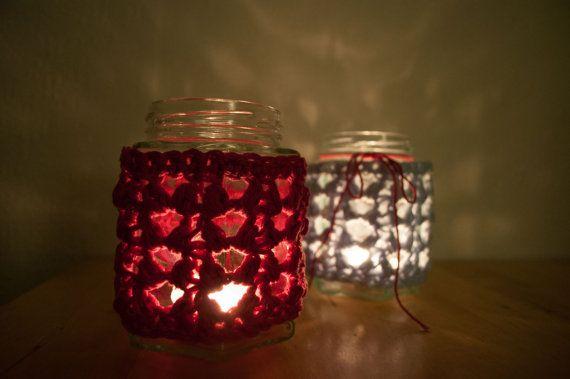 CROCHET PATTERN  DIY  mason jar cover tealight by joyofmotion