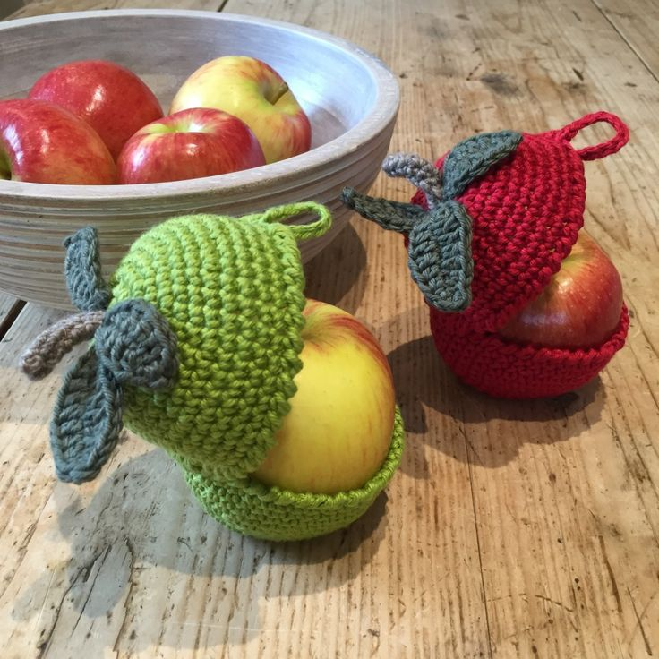 Crochet with Kate - adorable apple cosies on the LoveCrochet blog