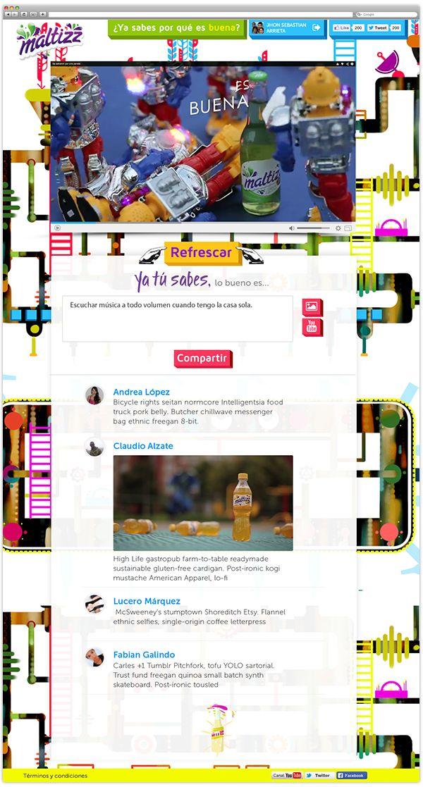 Maltizz website - Ya tú sabes, lo bueno es on Behance