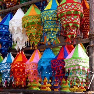Fancy lamps to add more light to diwali. - bollywoodshaadis.com