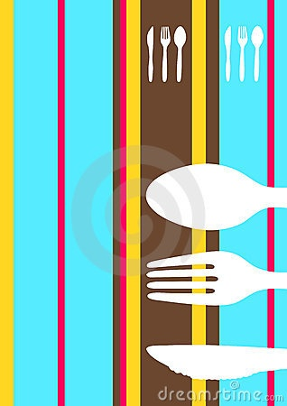 Retro striped menu design by Virtuelle, via Dreamstime