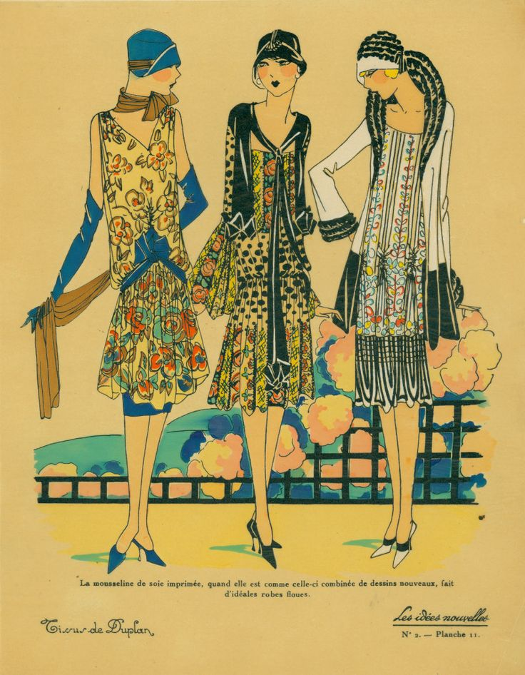 Day frocks and jackets. 1920's.