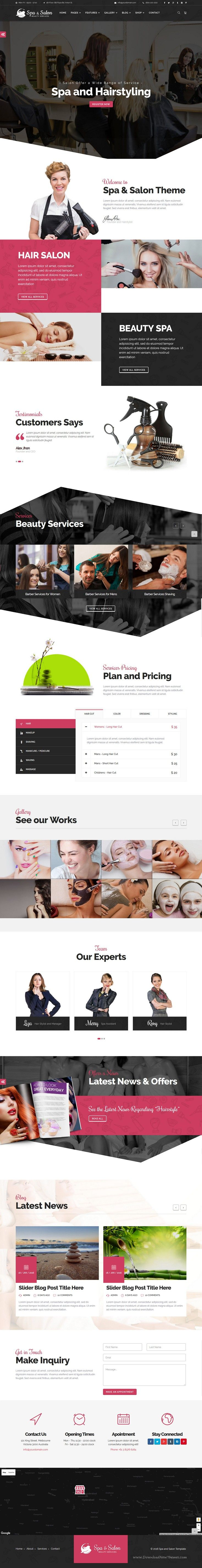 Beauty and Construction Services 2 in 1 wonderful bootstrap HTML template for Building, Renovation, Construction and #Beauty, #Spa, Hair Salon, Therapy Services #website. Download Now!