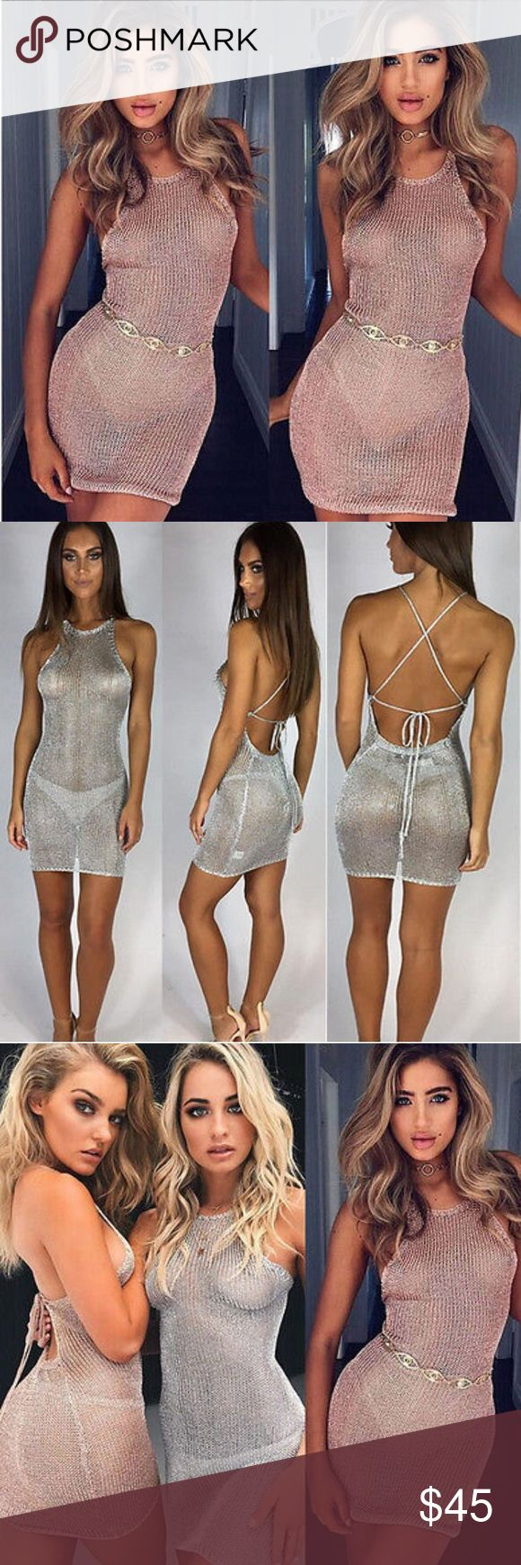 Metallic mini dress‼️ GET IT NOW 🤗💕 Metallic mini dress‼️ 🤗💕 BELA Dresses Mini