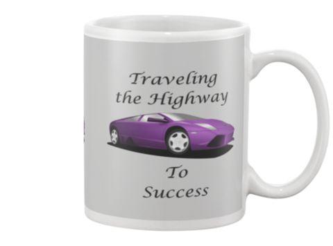 Travel to Success-Purple Car Mug