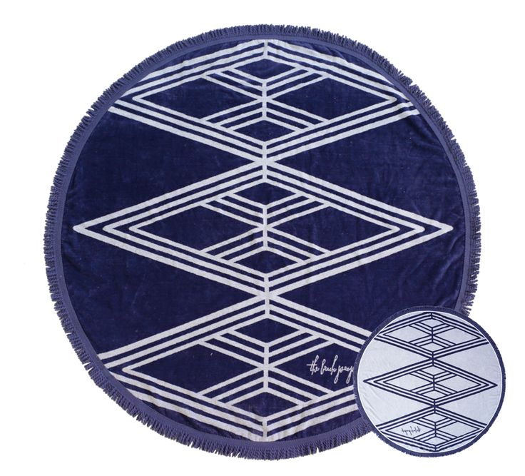 The Santorini Round Towel by The Beach People | From Salt Living  #thebeachpeople