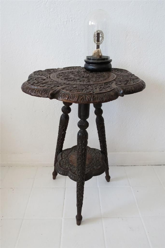 Vintage Hand Carved Indian Coffee Side Table | Hand Carved, Coffee And  Unique Coffee Table