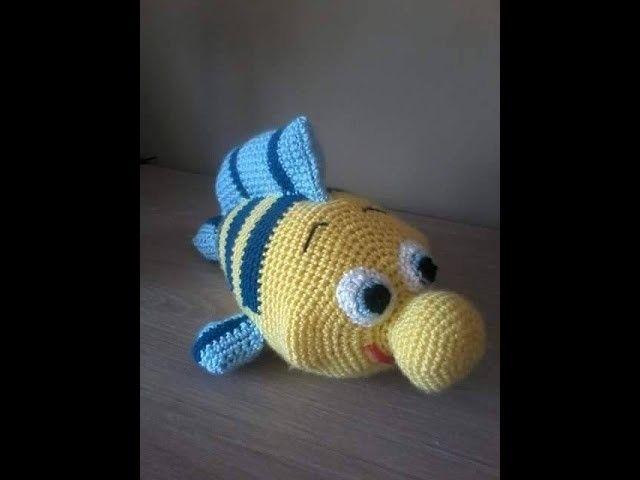 No 61# Rybka Florek na szydełku 1-2 - Fish Florek on crochet from cartoon PART 1.2