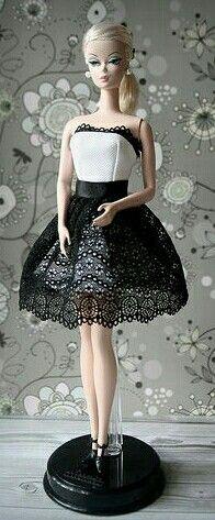 Silkstone Barbie in white n black......
