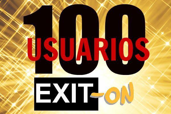 A tan solo dos semanas del nacimiento de EXIT-ON  ¡¡¡HEMOS LOGRADO LLEGAR A LOS 100 USUARIOS!!!!!! Gracias a todos los que confiáis en EXIT-ON para dar salida a vuestro potencial como emprendedores online.