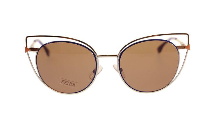Fendi Women's Sunglasses FF0176 3YG Light Gold/Drak Brown Oval Authentic 53MM. BRAND NEW FENDI SUNGLASSES.