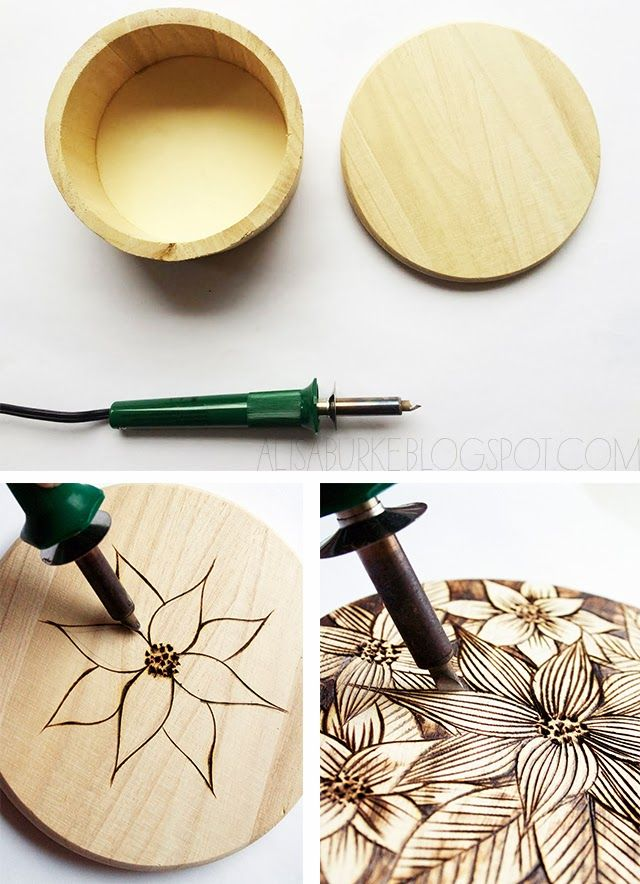 By now you must know that I love wood burning and since it's the holidays I wanted to come up with a way incorporate wood burning into ...