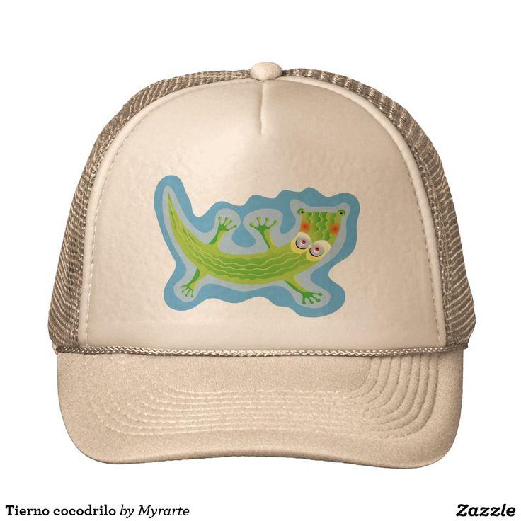Tierno cocodrilo trucker hat. Producto disponible en tienda Zazzle. Accesorios, moda. Product available in Zazzle store. Fashion Accessories. Regalos, Gifts. Link to product: http://www.zazzle.com/tierno_cocodrilo_trucker_hat-148789464564392048?CMPN=shareicon&lang=en&social=true&view=113076339708907653&rf=238167879144476949 #gorra #hat #cocodrilo #crocodile