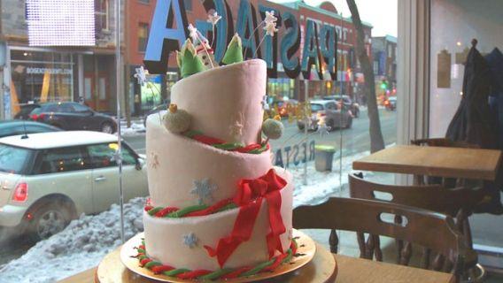 Gâteau de Noël en trois étages