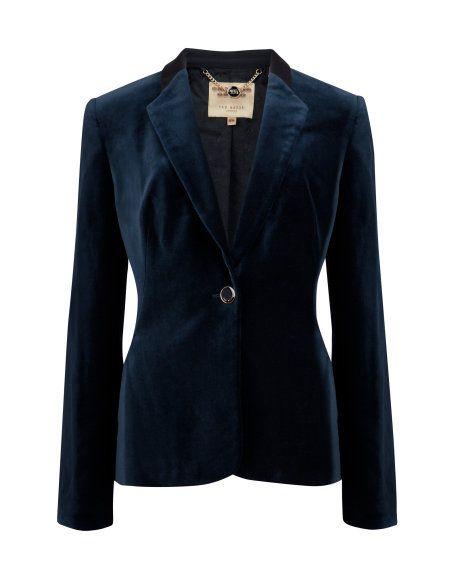 Olivia LOVE LOVE this deep blue velvet blazer, it's a must have!