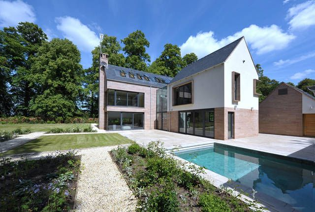 Nice idea for a back garden at a contemporary country house