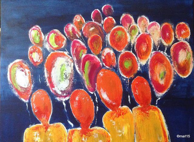 Kom binnen in de Kunstgalerie van Marl.Decoratieve schilderijen: 15_187 Balloons