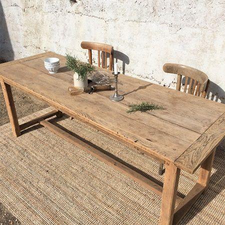 Exceptionnel Table De Ferme Ancienne, Bois Brut Ancien, Table Campagne, Table Ancienne,  Chêne