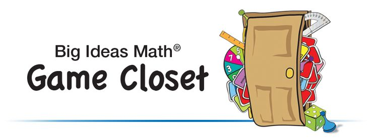 Big Ideas Math Game Closet - Common Core Aligned Math Games for the Classroom