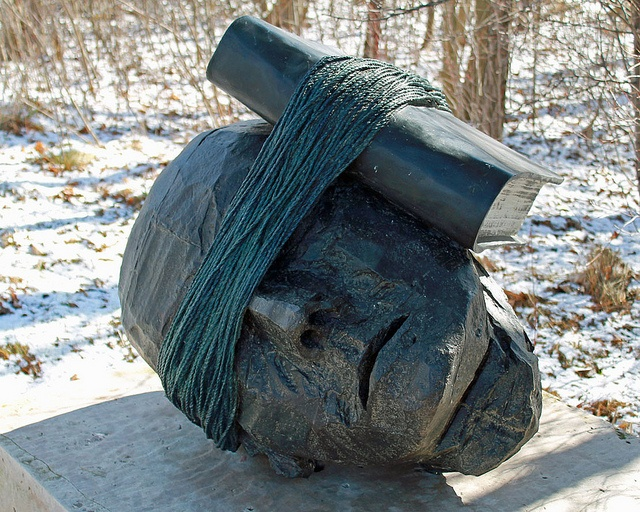 My absolute favorite sculpture by Bill Woodrow   Listening to History - Frederik Meijer Gardens & Sculpture Park
