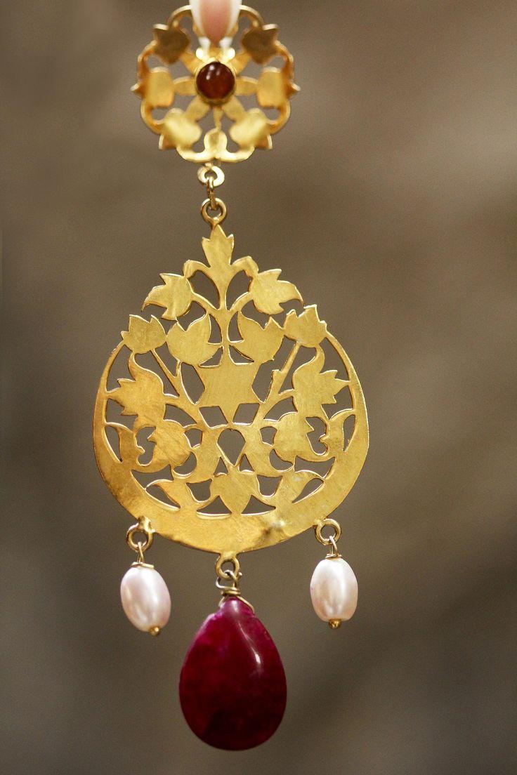 #gold inspiration, #earrings at #fabindia