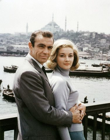 Sean Connery and Italian actress Daniela Bianchi on the set of From Russia With Love