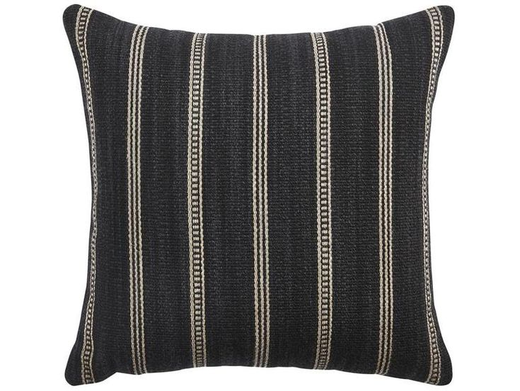 Saddle Stripe Pillow Cover  Insert, 20 Sq  Industrial, Upholstery  Fabric, Pillow by Curated Kravet