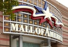 DAY 1: Mall of America, Bloomington Mall of America, the country's largest entertainment and shopping complex, is located in suburban Bloomington just five minutes from the Minneapolis-Saint Paul International Airport.