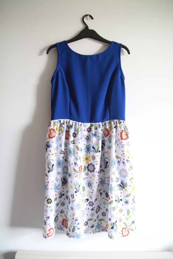 Moda, szycie, projektowanie: Jak uszyć sukienkę z cięciem redingot- wersja folk