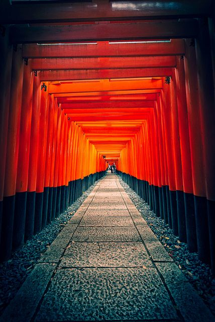 I was so enamored with this incredible shrine.  My favorite thing I saw in Japan.  Fushimi Inari shrine, Japan