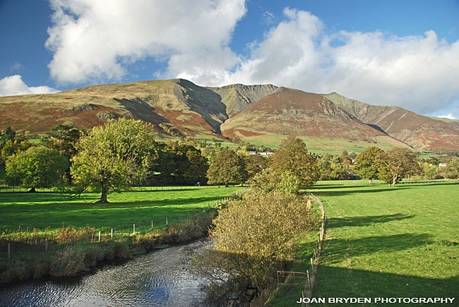 Blencathra from the Keswick Railway Footpath in the Lake District National Park, Cumbria, England