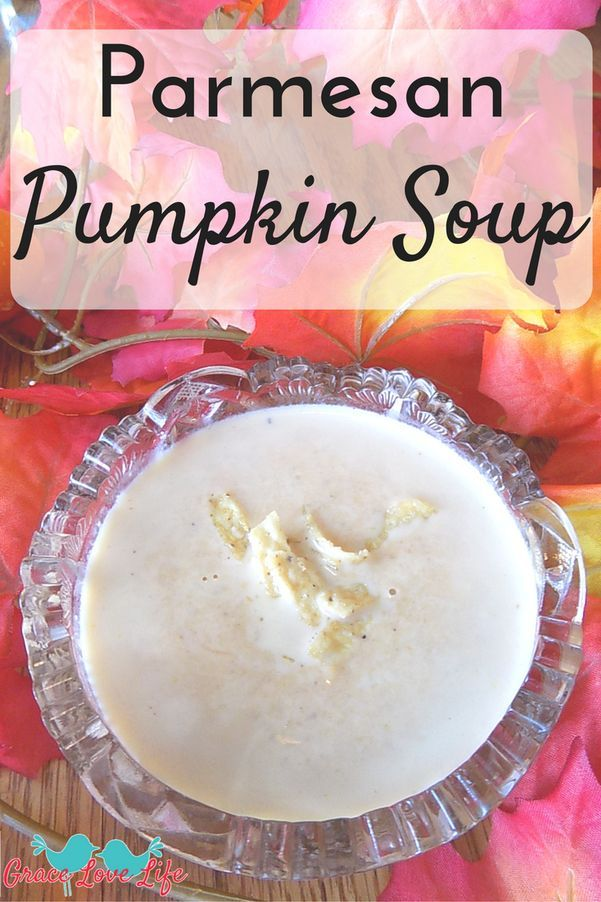 Easy Parmesan Pumpkin Soup Recipe that can be made in the crockpot or on a stove pot. This  creamy, healthy recipe uses canned pumpkin and is the best recipe for pumpkin soup on the web!: