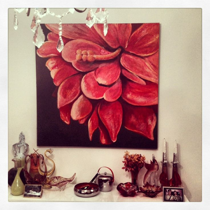 First floral painting in its gorgeous Melbourne home