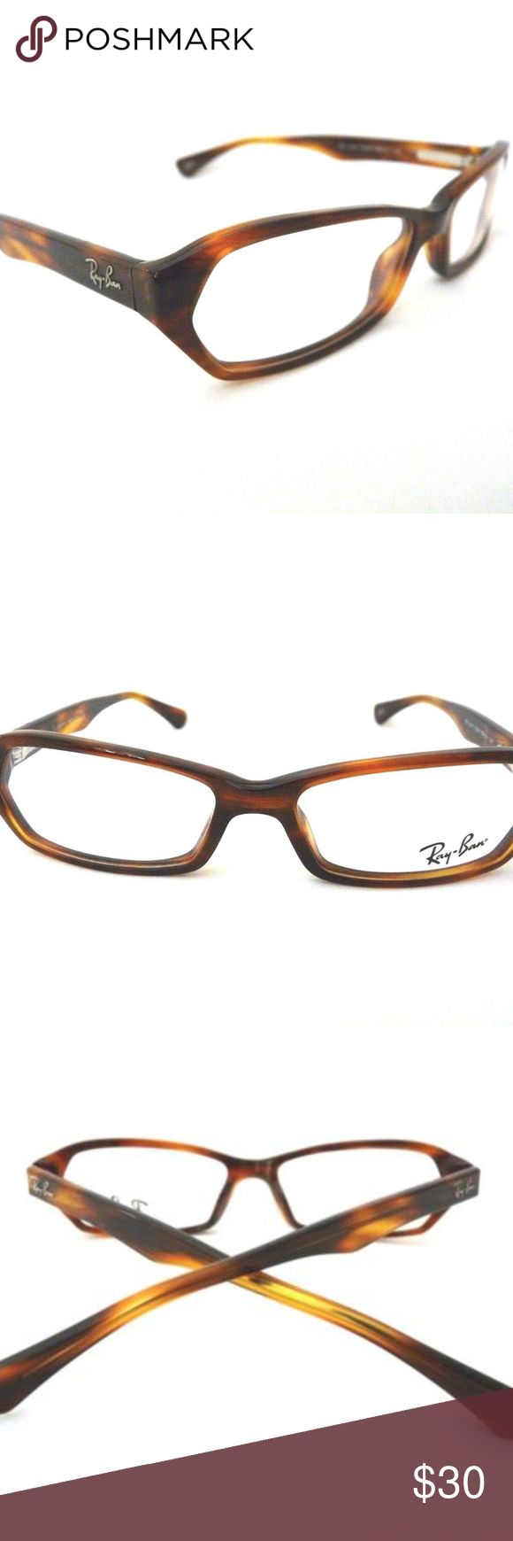 RAYBAN Tortoiseshell Havana RX Glasses Frames RAY BAN RB 5147 2144 BROWN WOMEN OPHTALMIC EYEGLASSES FRAME 53-15-140mm  Pre-owned frames in very good condition. Lenses will need to be replaced with your own prescription at the optometrist.   No case. Ray-Ban Accessories Glasses