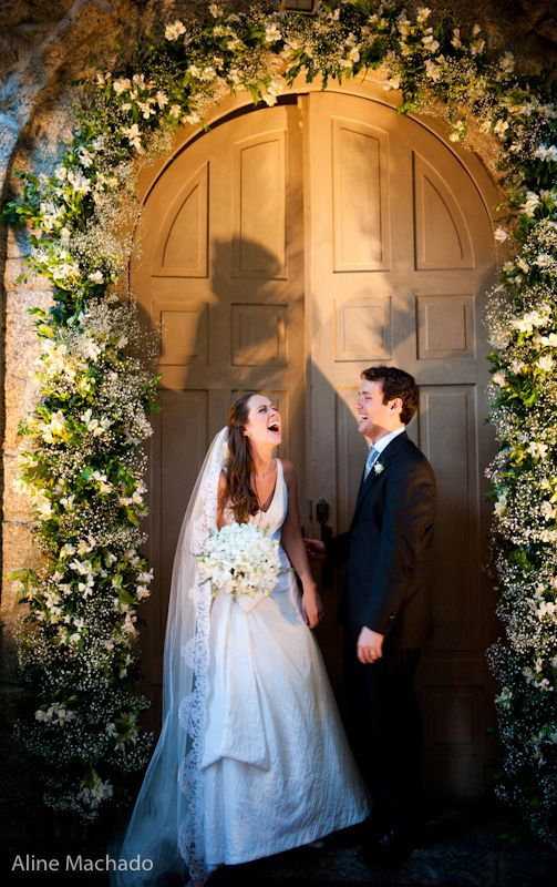 Mosquitinho na porta da igreja do casamento. Foto: Aline Machado.