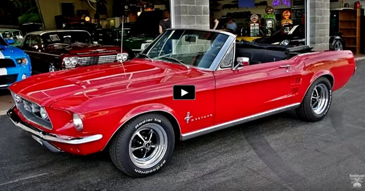 CANDY APPLE RED 1967 MUSTANG CONVERTIBLE 289 4BBL