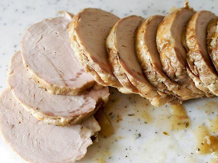 Roti de porc sauce échalote au Thermomix