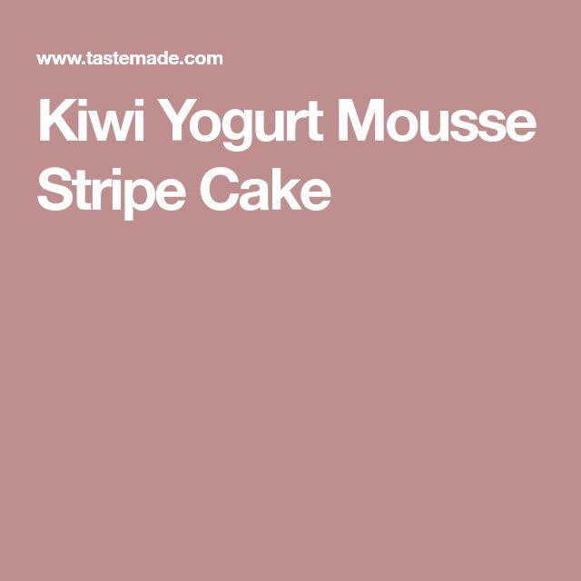 Kiwi Yogurt Mousse Stripe Cake