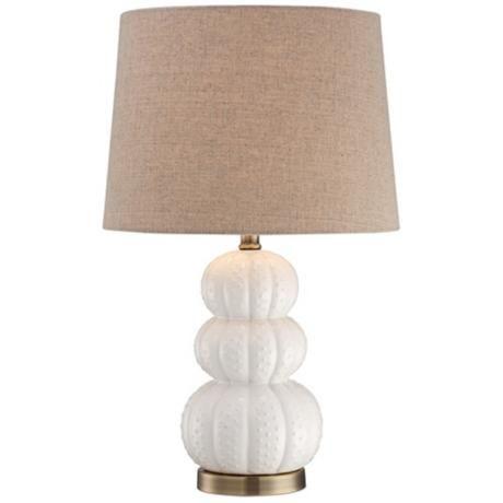Ceramic sea urchin white table lamp at lampsplus com 80 ea 24