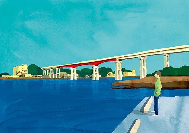 At the port | Flickr - Photo Sharing! #illustration #landscape