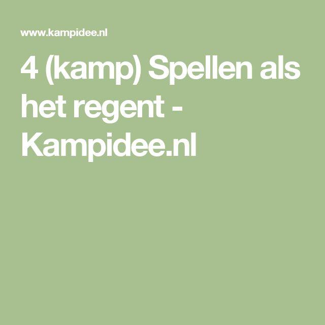4 (kamp) Spellen als het regent - Kampidee.nl