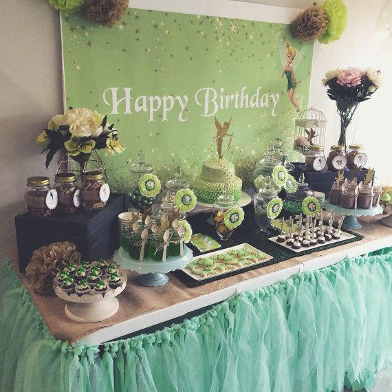 Tinkerbell and Peter Pan Party Decoration Dessert Table Backdrop PDF File