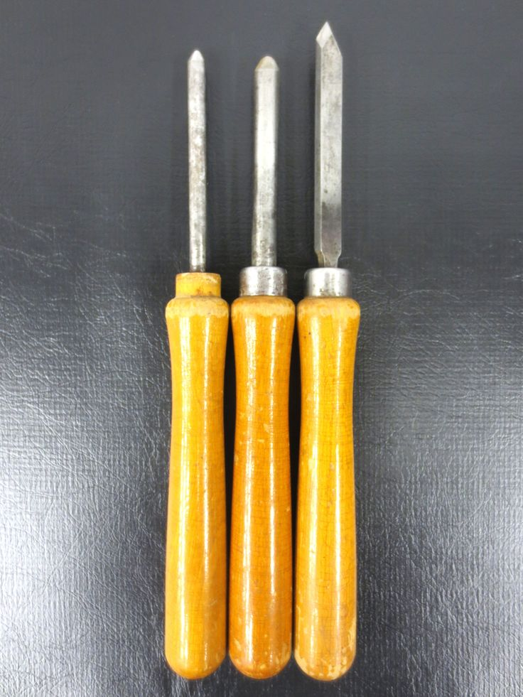 3 Vintage Wood Carving Chisels by Keystone Disston 12 inches, Woodworking Tools