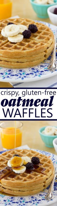 Crispy, Gluten-Free Oatmeal Waffles! A crowd-please and family favorite! (Dairy-Free)