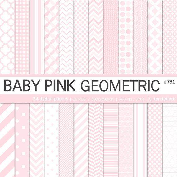 Documenti digitali Rose Rosa Baby geometrico carte di eltendedero