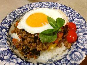 *簡単タイ料理*野菜たっぷりガパオライス by ありんこりにすた [クックパッド] 簡単おいしいみんなのレシピが274万品