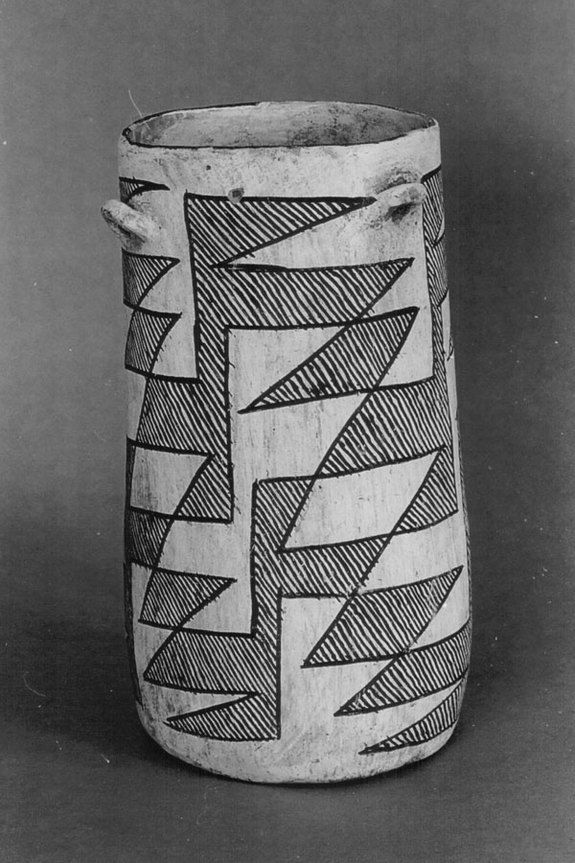 This cylinder jar from Chaco Canyon showed evidence of chocolate in the ancient cultures American Southwest, meaning it had been traded/brought from central and south America.