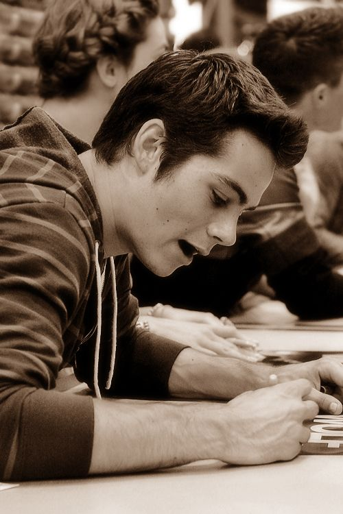 Dylan O'brien. I have the world's biggest crush on him, he is freaking adorable.