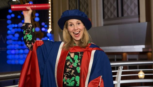 Comedian and actress Sally Phillips has been given an honorary doctorate by the University of East London for her work on behalf of people with Down's Syndrome.